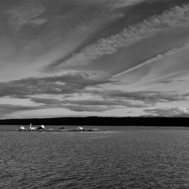 ©chris bone - approaching nanaimo bw