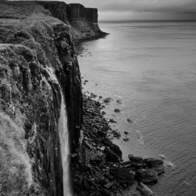 ©chris bone - kilt rock and mealt falls isle of skye bw