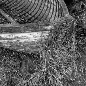 ©chris bone - old boat moeraki 1 bw