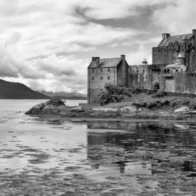 ©chris bone - eileen donan castle bw